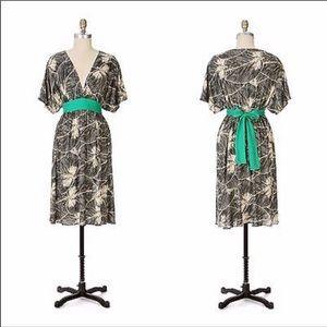 Anthropologie Maple Clockwork Silk Dress-c8